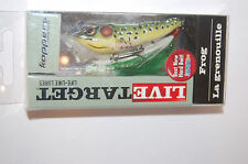 "koppers live target surface lure bass popper frog 2 1/2"" 1/4oz green yellow"