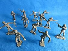 "MARX toy soldiers WWII GI's 6"" figures reduced to 54MM 12 in 6 poses"