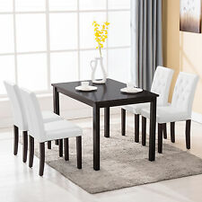 5 Piece Dining Table Set 4 Chairs Room Kitchen Dinette Breakfast Wood Furniture