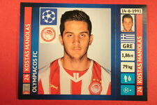 PANINI CHAMPIONS LEAGUE 2013/14 N. 201 MANOLAS OLYMPIACOS BLACK BACK MINT!