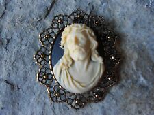 -2 IN 1 JESUS CAMEO BROOCH/PIN/PENDANT!! XMAS, HOLIDAY!! LORD, GOD, RELIGIOUS