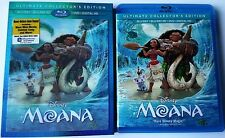 DISNEY MOANA BLU RAY 3D 1 DISC SET WITH LENTICULAR SLIPCOVER FREE WORLD SHIPPING