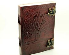 Double Lock Tree Of Life Handmade Leather Journal Diary Blank Book Of Shadows