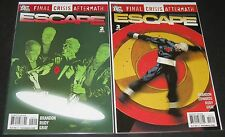 Final Crisis Aftermath: Escape 2 & 3 (2009, DC) 1st Print lot Brandon Rudy Gray
