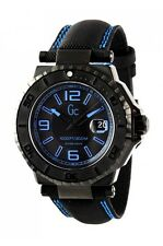 NEW GUESS COLLECTION GC - 3 AQUASPORT MEN WATCH DATE BLACK BLUE STRAP X79012G2S