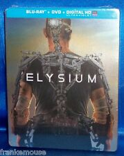 BRAND NEW OOP TARGET EXCLUSIVE MATT DAMON ELYSIUM STEELBOOK BLU RAY & DVD MOVIE