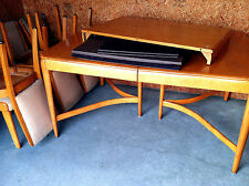 HEYWOOD WAKEFIELD DR TABLE w/6 CHAIRS incl. 2 Leaves and full PADS