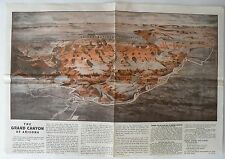 1955 Grand Canyon National Park Fred Harvey Paper PLACEMAT Restaurant Vtg