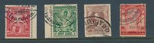 THAILAND SIAM PITSANULOKE POSTMARKS 4 stamps