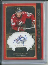 JORDAN STAAL AUTOGRAPH #/10 2013-14 THE CUP CANADA PROGRAM OF EXCELLENCE AUTO