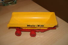 VINTAGE MATCHBOX KING SIZE MUIR - HILL YELLOW & RED TIPPING TRAILER K-5