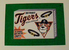 2016 TOPPS WACKY PACKAGES MLB - DETROIT TIGERS FLEA COLLAR - GREEN GRASS INSERT