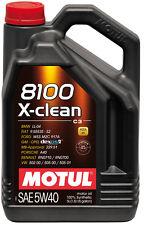 MOTUL Motoröl 8100 X-clean 5W-40 5 Liter Audi Ford MB Opel Renault VW