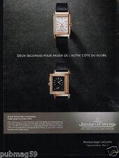 Publicité advertising 2014 La Montre Grande Revrso par Jaeger-LeCoultre