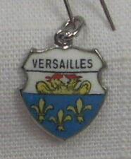 Vintage REU Sterling/Enamel Versailles, France Coat of Arms Bracelet Charm