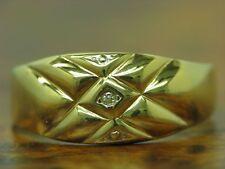 18kt 750 GOLD RING MIT DIAMANT SOLITÄR BESATZ / RG 66 / 2,1g