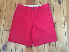 HOLLISTER MENS RED COTTON SHORTS W28