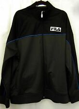FILA Track Jacket 2XL Italia Italy Black Blue Zip Up Sweater XXL Mens
