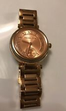 MICHAEL KORS MINI SKYLAR MK5971 ROSE GOLD TONE CRYSTAL PAVED LADIES WATCH ( READ