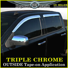 2014-2016 SILVERADO Crew Cab Chrome Door Visors Window Rain VentGuards CHEVROLET