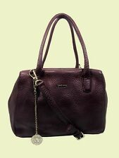 DKNY TRIBECA Bordeaux Leather Satchel Bag MSRP $345.00 *FREE SHIPPING*