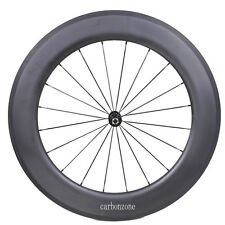 Carbon 27mm Rim Clincher 86mm Tubular Wheel Road Bike Part 700C Black Hub Spoke