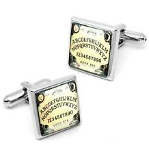 Traditional Ouija Spirit Board Sterling Silver Glass Horror Cufflink Set w/ Box