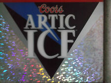 Coor's Artic Ice Beer Vintage Mirror Bar Sign Rare 1994 Reflective Multicolored