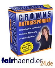 CROWN 5 AUTORESPONDER Follow Up Software TOOL AUTOMATISCHE EMAILS NEU E-LIZENZ