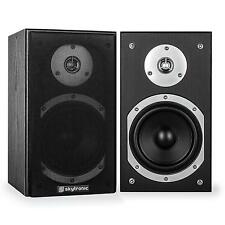 SKYTRONIC SHFB55B PASSIVE HIFI BOOKSHELF SPEAKER PAIR 140W BLACK * FREE P&P UK