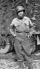 """WW2 Photo WWII US Navy CB """"Seabee"""" Portrait Great Photo!!!  / 1206"""