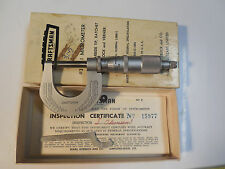 CRAFTSMAN #38651 Micrometer .0001 Grad. w TOOL Instructions and BOX