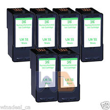6 Black Lexmark 32 Ink Cartridge For X3330 X5250 X5450 X3350 X5270 X5470 Printer