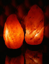 Natural Himalayan Rock Salt Lamp 3-5kg On Wooden Base. (Plug & Bulb Included)