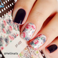 2 Sheets/Set Flower Leaves Nail Art Water Decals Transfer Sticker for DIY BP-W03