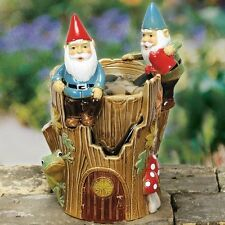 Gnome Ceramic Water Fountain Coynes & Company New Tabletop Elves Fountain
