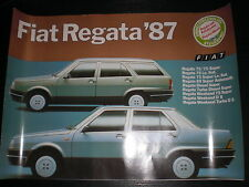 Prospekt Sales Brochure Fiat Regata 1987 Auto Car Weekend 75 Super   автомобиль
