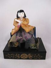Antique Japanese Gofun Hina Doll Silk Fabric
