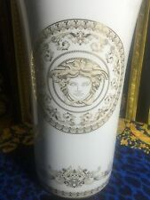 "VERSACE MEDUSA GOLD VASE 14"" tall LARGE RETAIL $900"