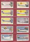 LAMBERT & BUTLER - RARE SET OF 50 AEROPLANE MARKINGS CARDS - 1937