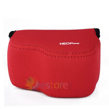 Red Neoprene Soft Camera Case Bag Cover For Sony A6000 16-50mm Lens DSLR