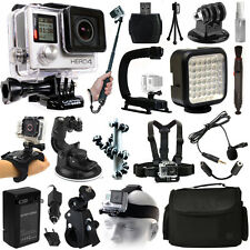 NEW GoPro HERO4 Silver Edition + Extreme Action Accessory Bundle Package Pro Kit