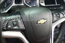 2011-2015 Chevy Cruze Carbon Fiber Steering Wheel Accent Decal Cover - Wrap
