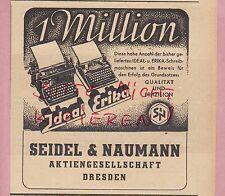 Dresda, Pubblicità 1941, Seidel & Naumann AG ideale Erika