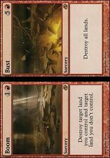 Magic the Gathering MTG 4x Boom // Bust x4 LP Playset x 4 Planar Chaos