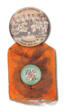 1896 World Champions Baltimore Orioles Team Celluloid Pin Pinback with Ribbon