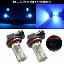 2x 60W SAMSUNG 12 SMD LED H11 H8 2323 Projector Fog Daytime Running Light Blue