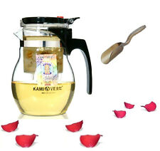Kamjove TP-777 Glass Gongfu Tea Maker Press Art Cup Teapot with Teaspoon 600ml