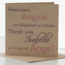 Personalised Birthday Card Special Friend, Best Friend. Friendship Angel Card.