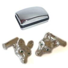 925 Sterling Silver Fox Cufflinks Hunt Hunter Pony Club Master Present Gift Box